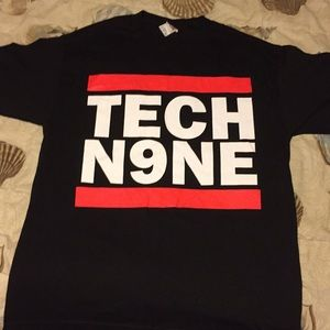 Vintage TECH N9NE Graphic logo T-shirt large